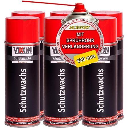 6 Dosen Vikon Schutzwachs Spray 400 Ml Transparente Konservierung Hohlraumversiegelung Hohlraumkonservierung Mit Sprührohrverlängerung Baumarkt