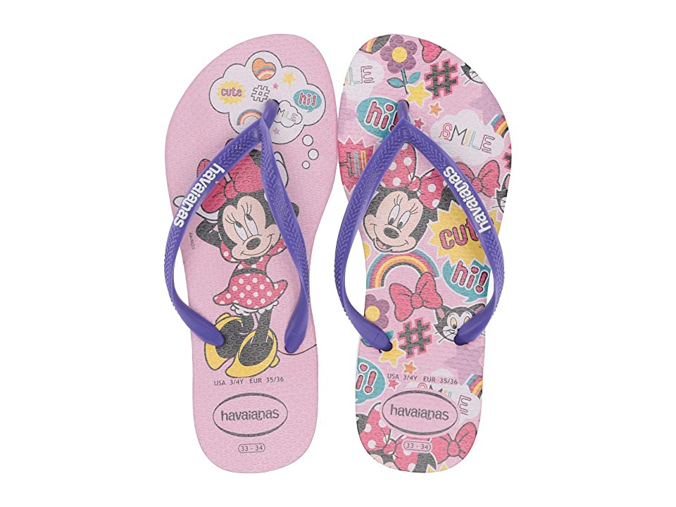 Havaianas Kids Slim Disney Cool Flip Flops (Toddler/Little Kid/Big Kid) (Rose Quartz) Girls Shoes