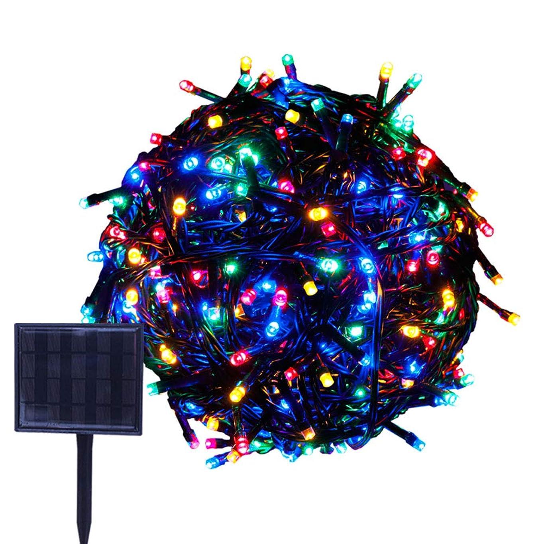 人工的な学者掻くRPGT ソーラーLEDイルミネーションライト 33m 300LED ソーラーライトストリング USB充電 防水 8ライトモード ソーラー充電式 クリスマスガーデン装飾ライトストリング 屋外、クリスマスツリー、ガーデン、パス、ウェディングパーティデコレーション (マルチカラー)