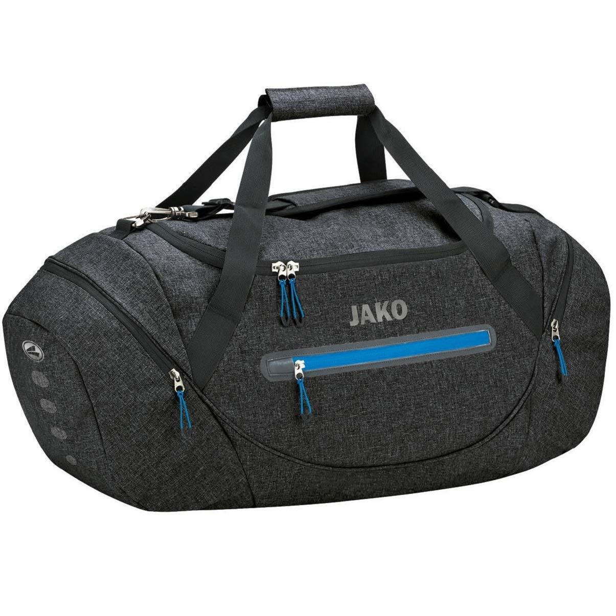 JAKO Unisex– Erwachsene Champ Sporttasche, schwarz meliert, Senior 65 x 29 x