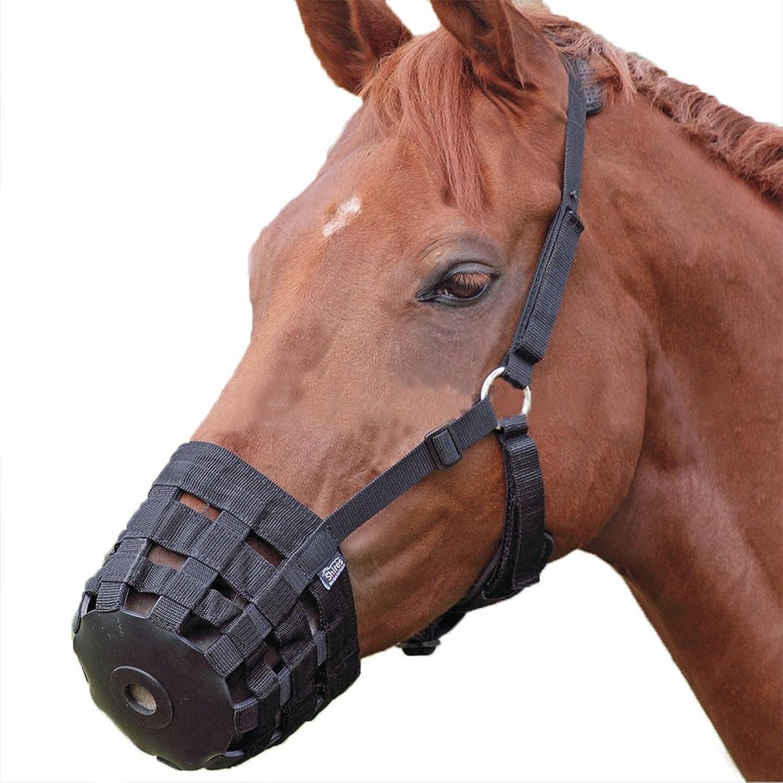 Blingdeals Horse Grazing Muzzle with Neck Pad Adjustable Breathe Nylon Black M