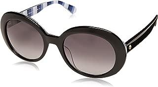 Kate Spade Women's Cindra/s Round Sunglasses, Black, 54 mm