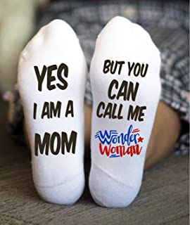 Wonder Woman Socks Funny Mother's Day Christmas Gifts