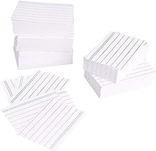 Amazon Basics - Fichas de cartulina con rayas, tamaño A8, Blanco (Paquete de 1000)