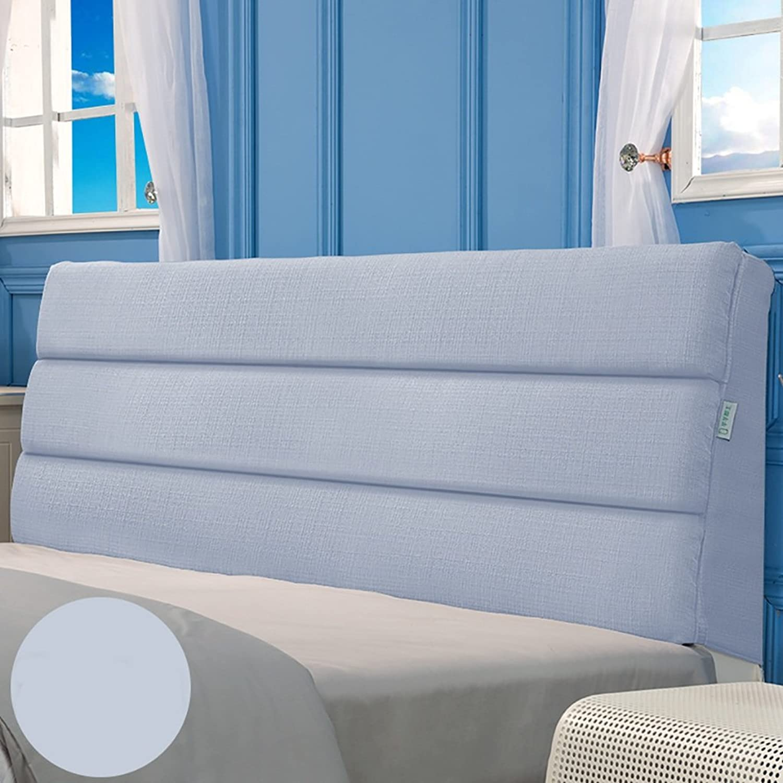 Headboard Bed Backrest Cushion Bed Cushion Bedside Pillow Headboard Cotton Linen Pillow Lumbar Support Detachable 12 Solid colors 5
