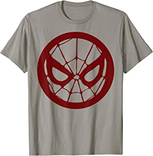 Marvel Spider-Man Face Logo Red Tonal Graphic T-Shirt