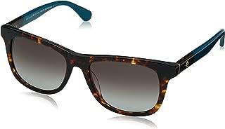 Kate Spade Women's Charmine/s Rectangular Sunglasses, Havana TURQUOIS, 53 mm