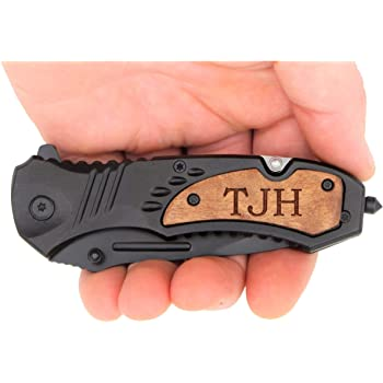 TAC-FORCE TF606WS Engraved Pocket Knife For Everyday Carry, Valentines Day, Fathers Day