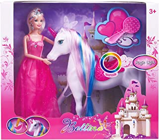 Magic Light Unicorn & Princess Doll, Unicorn Toys Gifts for Girls, 2019 Christmas Birthday Gifts for Kids Aged 3 4 5 6 7