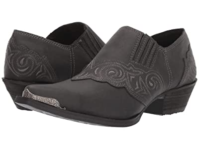 Durango Crush Embroidered Shoe Boot (Charcoal) Women