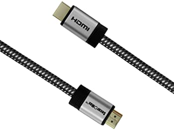 SecurOMax HDMI Cable (4K, Category 2) with Braided Cord, 15 Feet