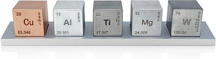 Set di elementi cubi da 2,5 mm (tungsteno/rame/titanio/alluminio/magnesio) midwest tungsten service