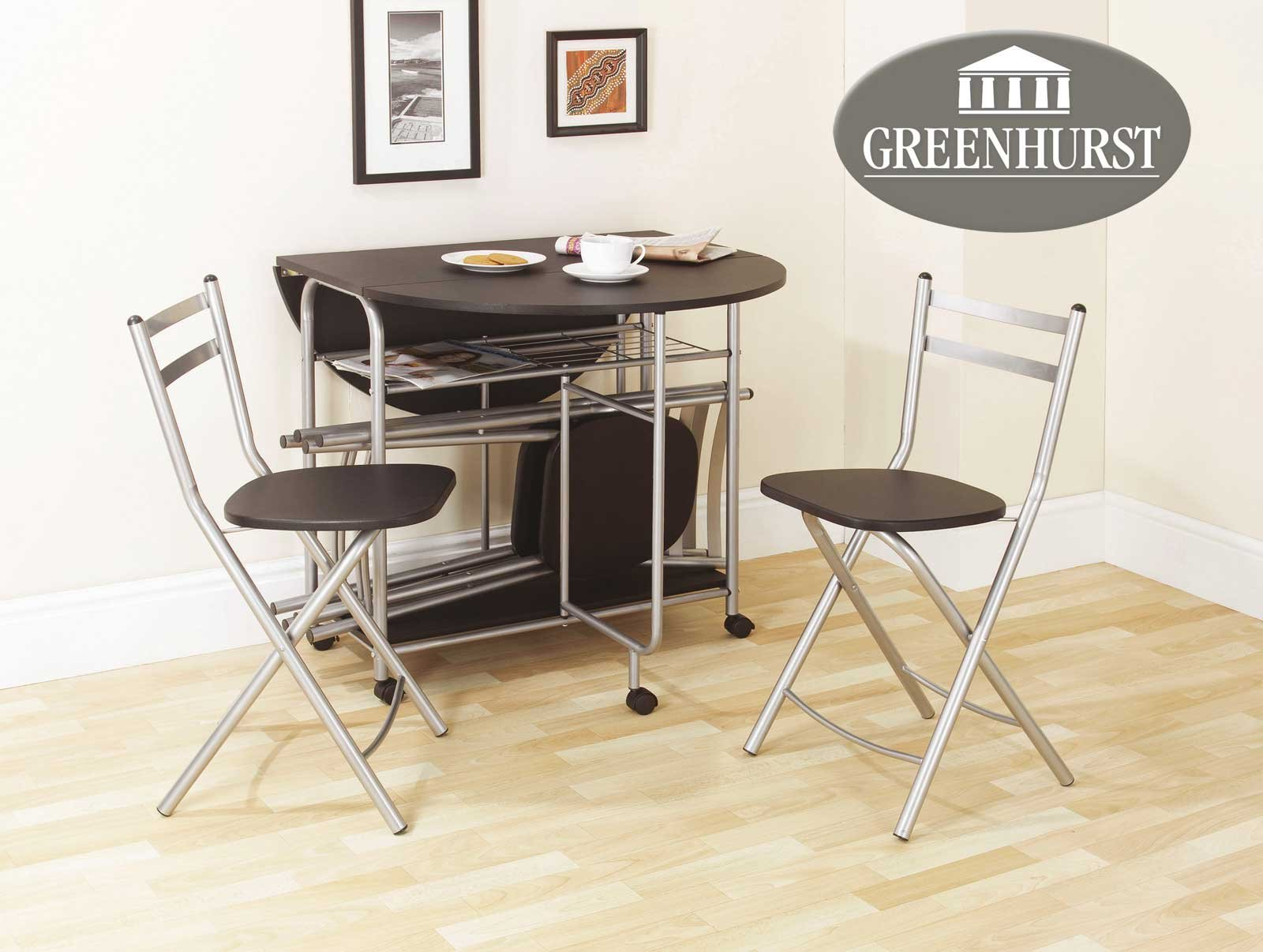 - Folding Dining Set Drop Leaf Table And Chairs Butterfly Dining