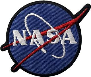 Toppa ricamata da applicare con ferro da stiro o cucitura, tema: Logo NASA Esploratore spaziale