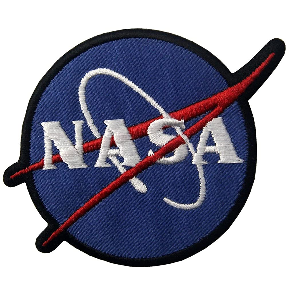 NASA Logo Space Explorer Embroidered Applique Iron On Sew On Patch