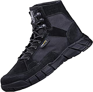 Free Soldier Men's Tactical Boots 6 Inches Military Boots Summer Lightweight Breathable Desert Boots with Thin Durable Fabric(Black, 13 US)