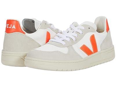 VEJA V-10 (B-Mesh White/Orange/Fluo) Women