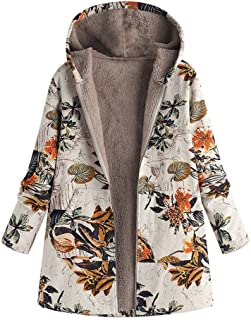 LUKEEXIN Hot Women Winter Warm Floral Hooded Jacket Flower Print Hoody Vintage Oversize Coats Winter Padded Jacket Women Parkas