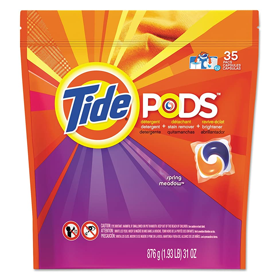 Procter & Gamble Pods, Laundry Detergent, Spring Meadow, 35/pk, 4 Pk/ct, New