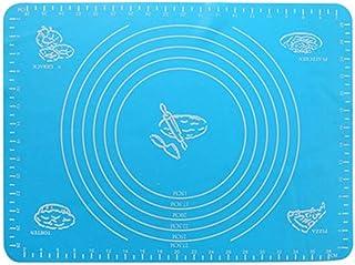 ZHEBEI Tapis de cuisson multi-usages, tapis de cuisson extra large, bleu, 60 x 50 cm