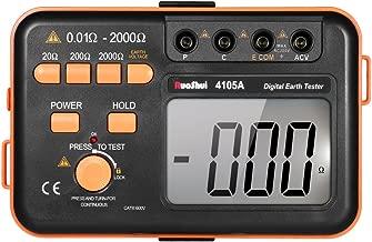 KKmoon 接地抵抗計 デジタルアース 抵抗 テスターグランド メーター 2000ohm 200V電圧計抵抗計 LCDバックライトディスプレイ