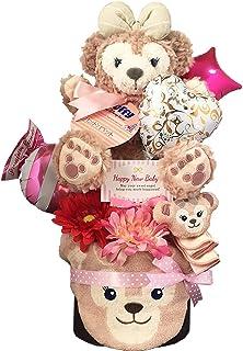 おむつケーキ [ 女の子/シェリーメイ : ディズニー / 2段 ] パンパース S22枚 (出産祝い に Sサイズ)2101 ダイパーケーキ 赤ちゃん ベビーシャワー ギフト 誕生日プレゼント