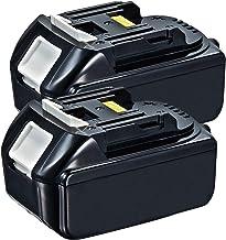 2 Pack 18V 5000mAh BL1850B Battery Replacement for Makita 18V Battery BL1830 BL1850 BL1840 BL1850B-2 BL1845 BL1815 BL1820 ...