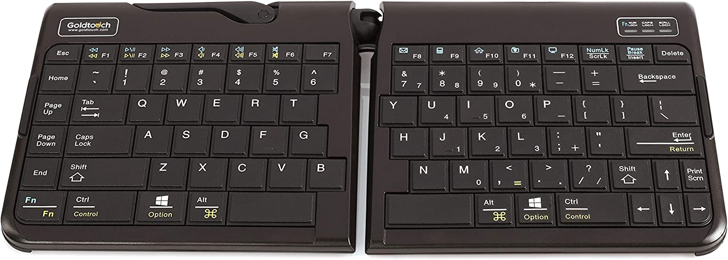 Goldtouch GTP-0044 Go!2 Mobile Keyboard, Portable Foldable Travel Keyboard with USB , Black