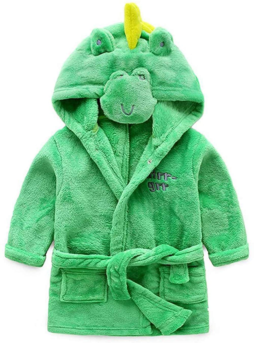 Image of Fun Green Dinosaur Robe For Boys, Toddlers and Infants