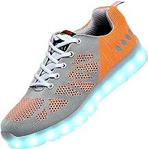 Kirby Riffle Men & Women LED USB Fashion Shoes Mesh Tennis Walking Sneakers