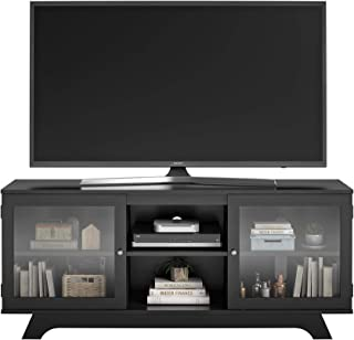 Best small black tv stand with glass doors Reviews