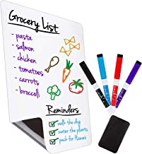 Magnetic Dry Erase Whiteboard Sheet for Kitchen Fridge: with Stain Resistant Technology - 12x8