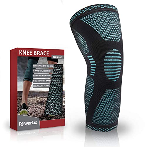 6baa8df881 PowerLix Compression Knee Sleeve - Best Knee Brace for Men & Women – Knee  Support for