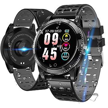 QKa Smart Watch mit EKG-Wiedergabediagramm und Blutdruck