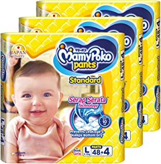 MamyPoko Standard Pants, L, 48 + 4 Count, (Pack of 3)
