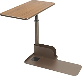 Drive Medical Seat Lift Chair Overbed Table, Walnut, Right Side