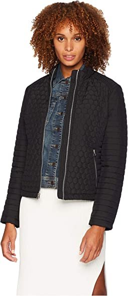 Linden Honeycomb Mini Quilted Scuba Jacket