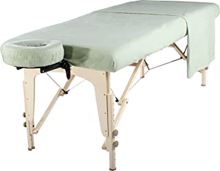 Master Massage Universal Massage Table Flannel Sheet Set 3 in 1 Table Cover, Face Cushion Cover, Table Sheet, Lily Green