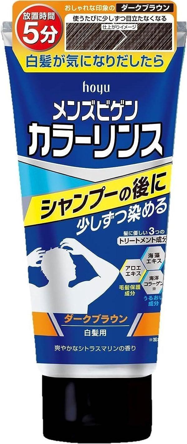 ミルク更新する何かホーユー メンズビゲン カラーリンス (ダークブラウン) ×6個