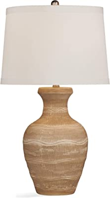 Bassett Mirror L3371TEC Ceramic Beachpoint Table Lamp, Antique Brown