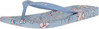 Joules Women's Flipflop Flip-Flop, Blue indienne Floral, 10 Medium US