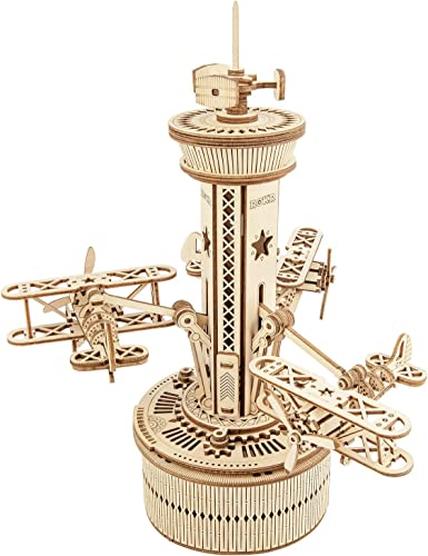 wholesale ROKR 3D Wooden Puzzle Mechanical Music Box,DIY online sale Aircraft Model Kits wholesale to Build,Best Toy Gift for Kids/Teens/Adults on Birthday,Decoration for Room online sale