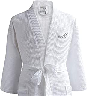 Waffle Robe Bathrobe Set - 100% Egyptian Cotton - Spa Robe, Luxurious, Soft, Plush - Unisex/One Size Fits Most