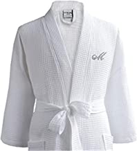 Luxor Linens - Waffle Robe Bathrobe Set - 100% Egyptian Cotton - Spa Robe, Luxurious, Soft, Plush - Unisex/One Size Fits Most