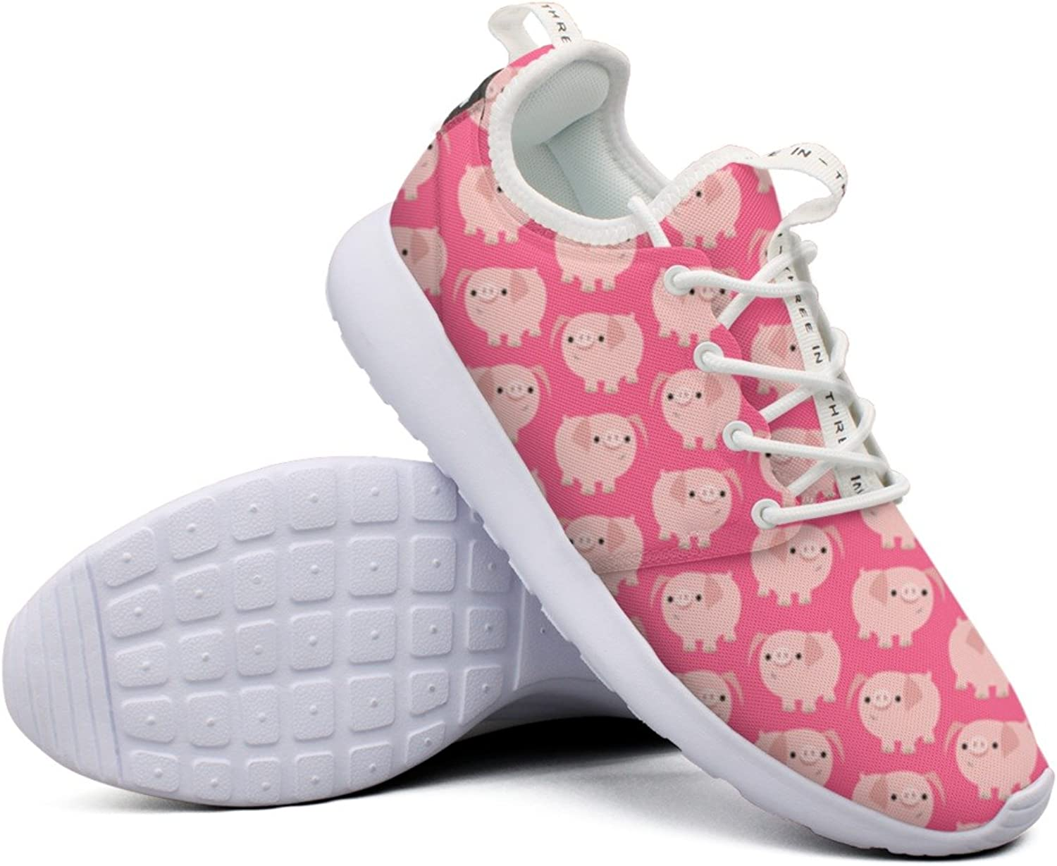 Women Cute Clever Cartoon Pigs colorful Top Jogger Design Running shoes