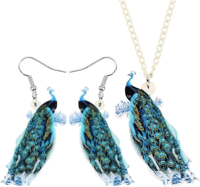 Uongfi Acrylic Sweet Animal Fresno Mall Peacock Bird Wom Albuquerque Mall Set Jewelry