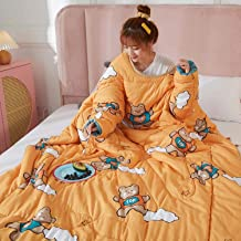 Wearable Quilt Blanket with Sleeves, Lazy Quilt Blanket, Multifunction Throw Blanket, TV Blanket for Couch, Sofa Home Nap,...