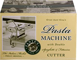 Fantes Pasta Machine, Chromed Steel with Wood Handle, The Italian Market Original since 1906