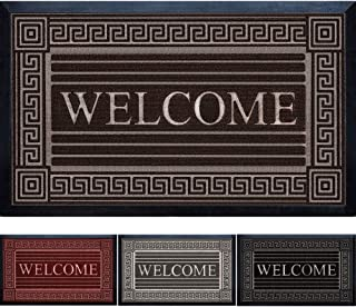 Extremely Durable Doormat - Outdoor Welcome Door Mat Non Slip with Thick Natural Rubber Backing - Indoor Outdoor Sole Dirt...