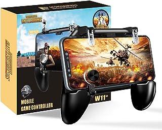 BESTZY PUBG Mobile Game Controller [4 in 1] - Mando Joystick Movil Gamepad Gatillos para Movil PUBG Soporte, Controlador Móvil para Android y iOS de 4.7 a 6.5 Pulgadas